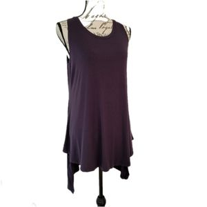 LOGO Layers Plum Sleeveless Tunic M